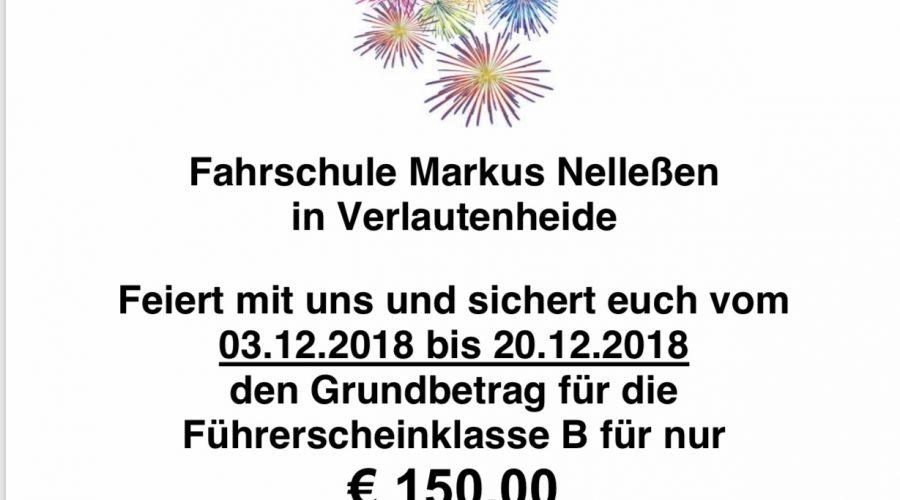 Angebot 20 Jahre Fahrschule Markus Nelleßen