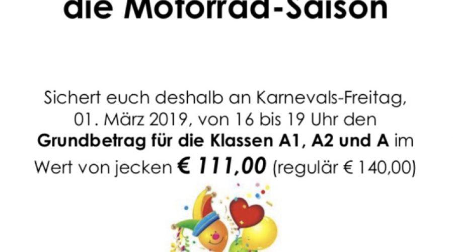 Wir starten in die Motorradsaison am 1. März