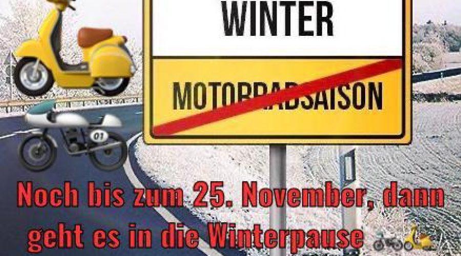 Praktische Motorrad Ausbildung noch bis zum 25.11.2020